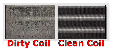 Dirty Coil Clean Coil Gc Heating And Cooling Quality